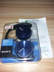 Новые проводные наушники Sony mdr zx310 Blue в упаковке синие